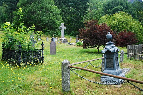 Pioneer Cemetery in Yale in the Fraser Canyon, British Columbia