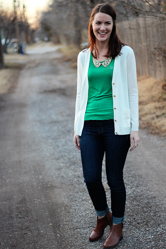 green-shirt-with-collar,-white-cardigan-5