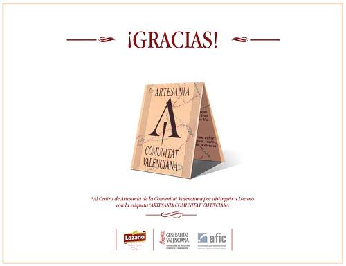 Lozano obtiene la etiqueta de Artesania Comunitat Valenciana