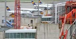 Obras en el aeropuerto de Múnich.