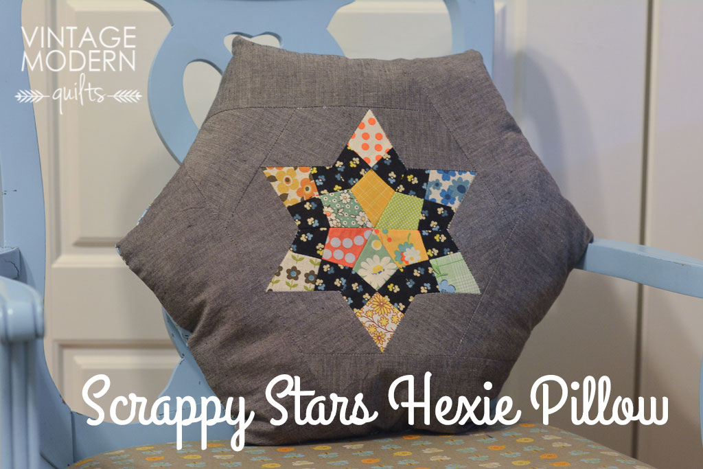 Scrappy Stars Hexie Pillow