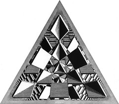 symmetry, triangle, pyramid, monochrome photography, black-and-white,