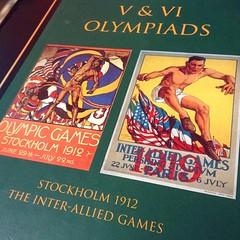 These something very beautiful about these printed historical #Olympic posters.