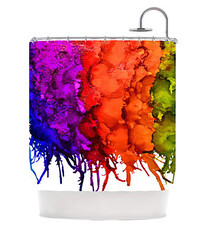 ugly shower curtain