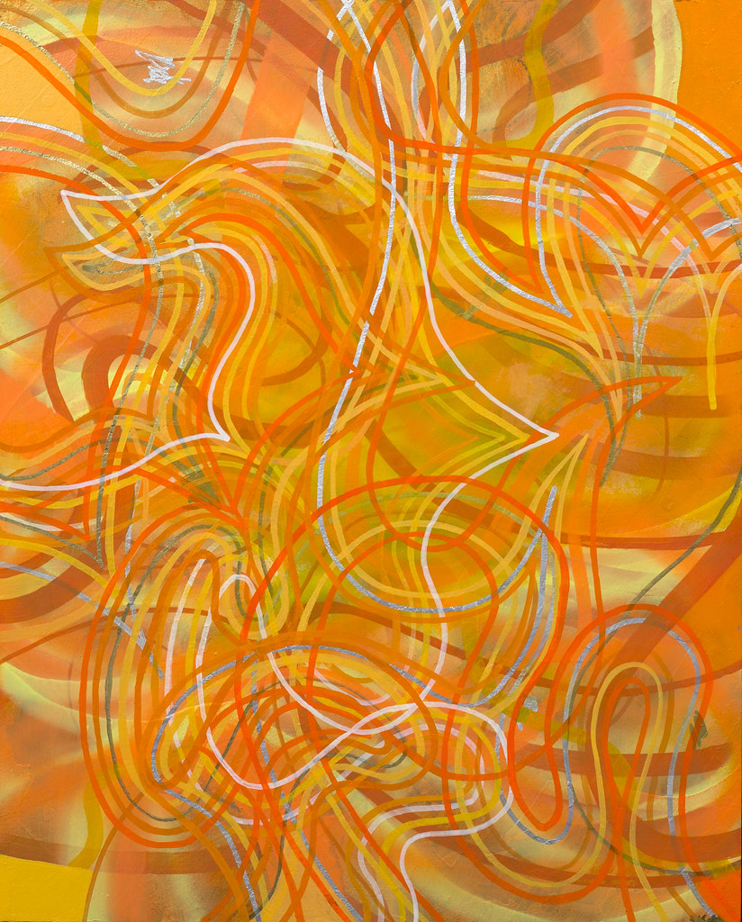 "Nicholas Mannira Adjunct States (1 of 2) 16"" x 20"" Acrylic 2013"