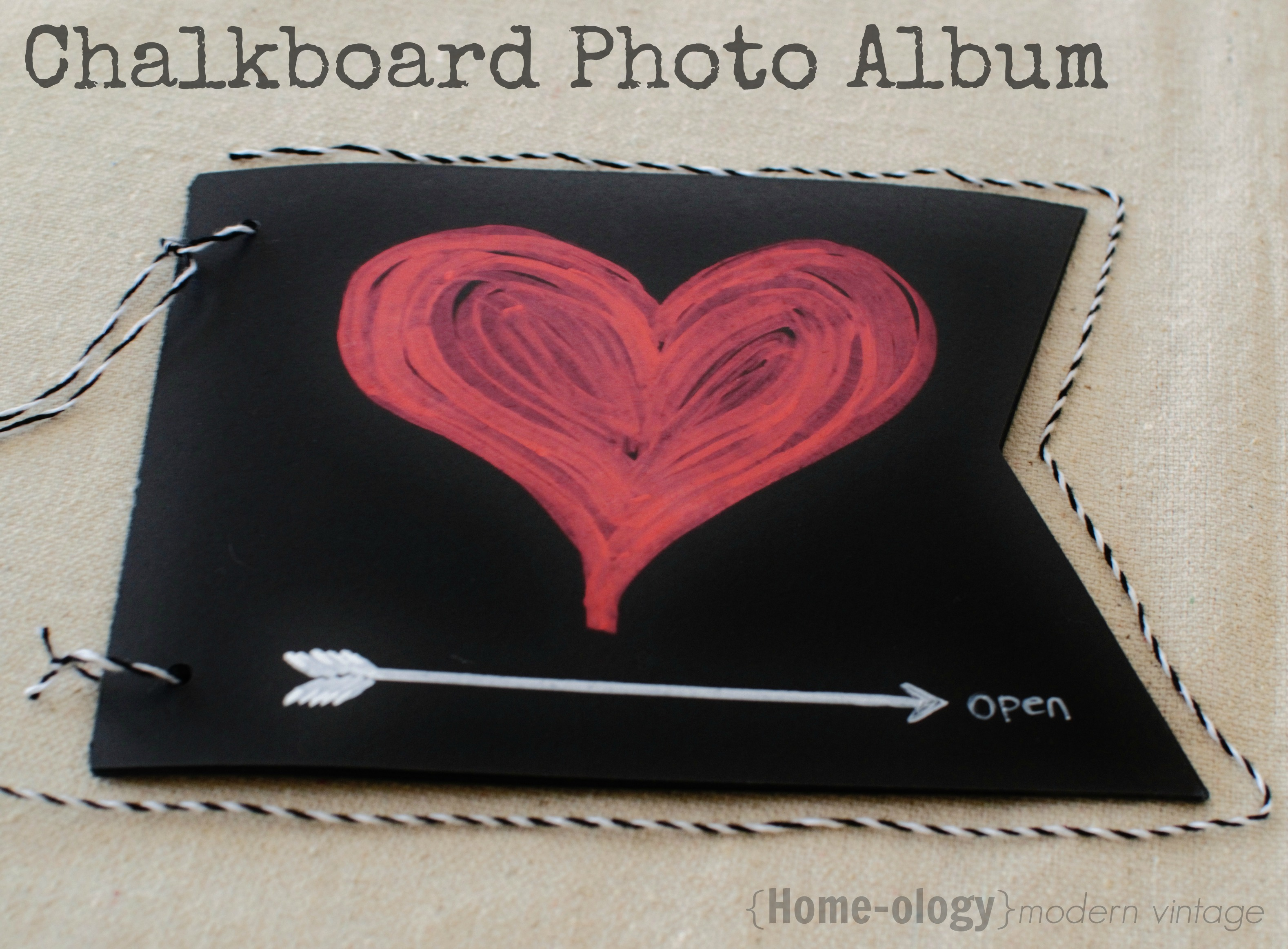 chalkboard photo album using resuable chalkboard banner paper