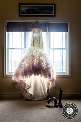 Ombre Pink Wedding Dress & Boots