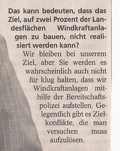 2014 03 06 Bouffier Windräder mit Polizei schützen Aussage