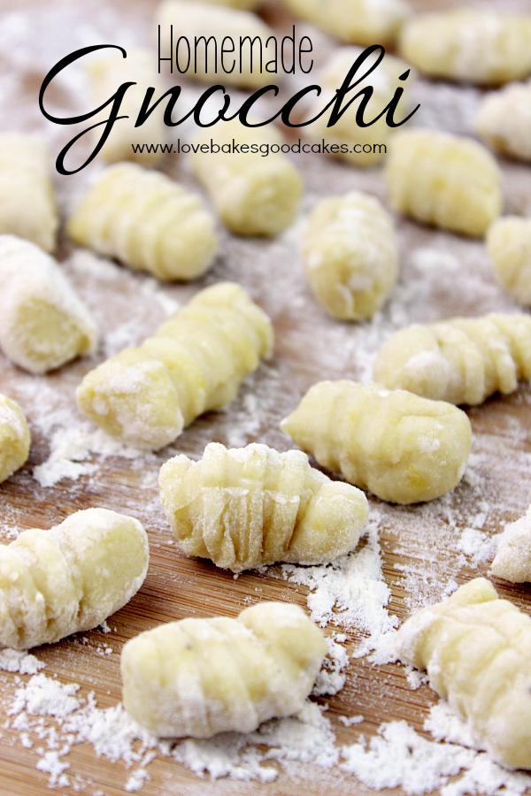 Homemade Gnocchi - an Italian potato dumpling that is easy to make at home and tastes great in your favorite recipes! #Italian #PotatoRecipe #dumpling