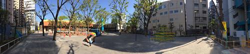 とらちゃんと恵比寿公園
