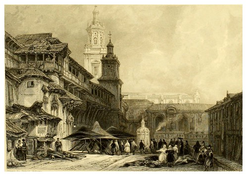 001-Gran plaza de Vitoria-Picturesque views in Spain and Morocco…Tomo II-1838-David Roberts