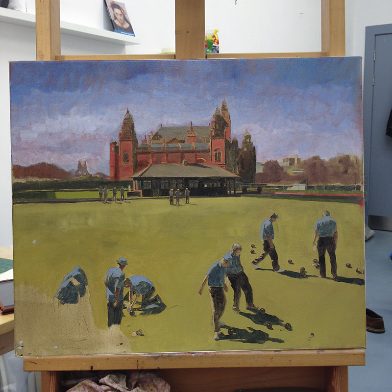 Kelvingrove on easel