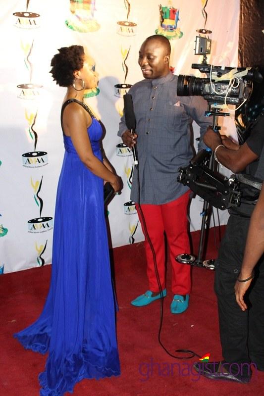 Linda Sokhulu at Africa Movie Academy Awards 2014