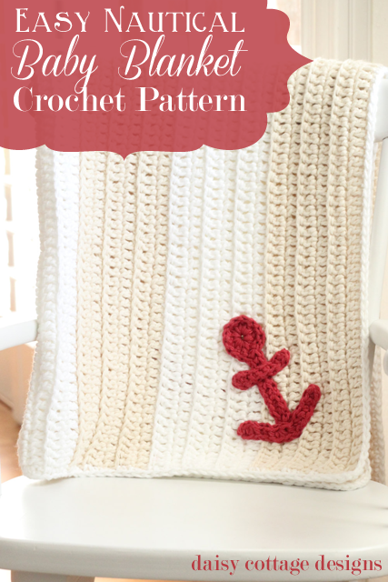 Crochet Patterns Nautical : Free Crochet Pattern: Easy Nautical Baby Blanket - Daisy Cottage ...