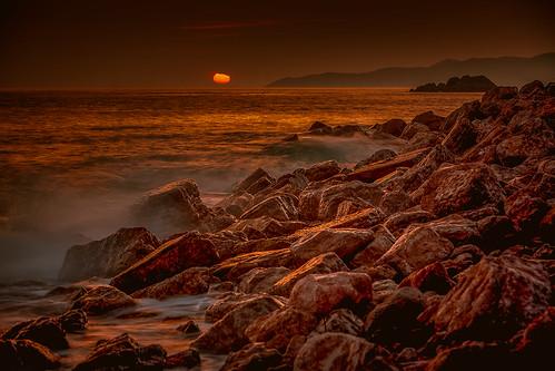 sunset sunrise meer long exposure