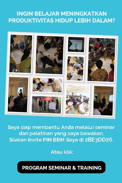 Pelatihan dan Seminar Produktivitas Hidup Bersama Arry Rahmawan
