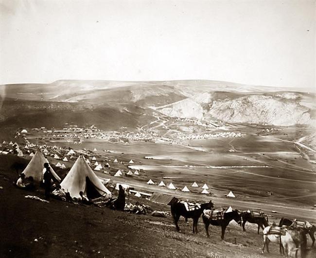 Cavalry camp near Balaklava, by Roger Fenton