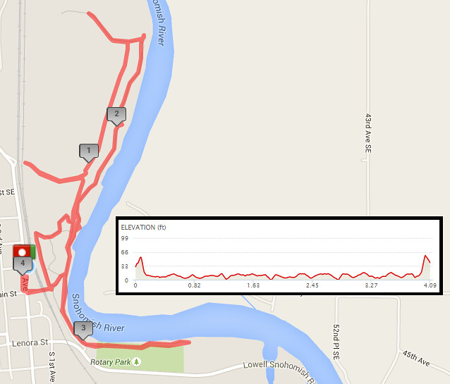 Today's awesome walk, 4.09 miles in 1:34, 8,789 steps, 51ft gain