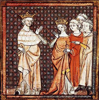 Louis the Stammerer on miniature of 14th century