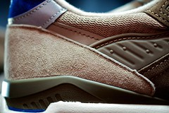 "New Balance x JCrew 998 ""Pebble Blue"" - Heel Detail"