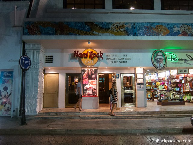 The smallest Hard Rock Cafe in the world