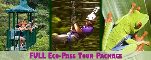 Costa Rica Atlantic FULL Eco-Pass Tour Package