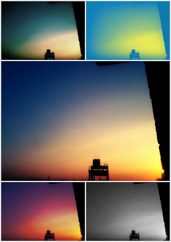 sunset colors collage
