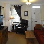 Living room view to front door