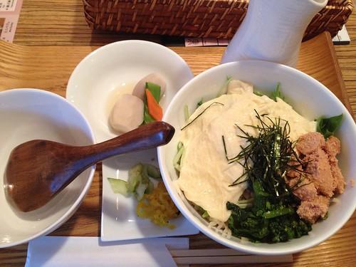 たらこと生湯葉の出汁茶漬け@Obu Cafe