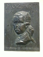 Photo of Wolfgang Amadeus Mozart  bronze plaque