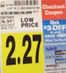 Bayer $3 catalina at Kroger stores