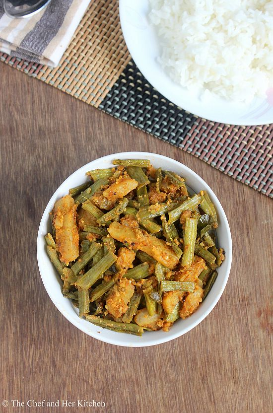 cluster beans potato curry