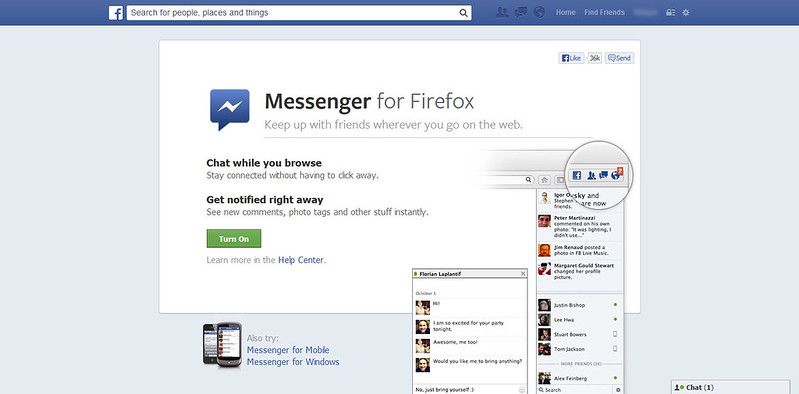 how to use firefox as facebook app - blog of the world