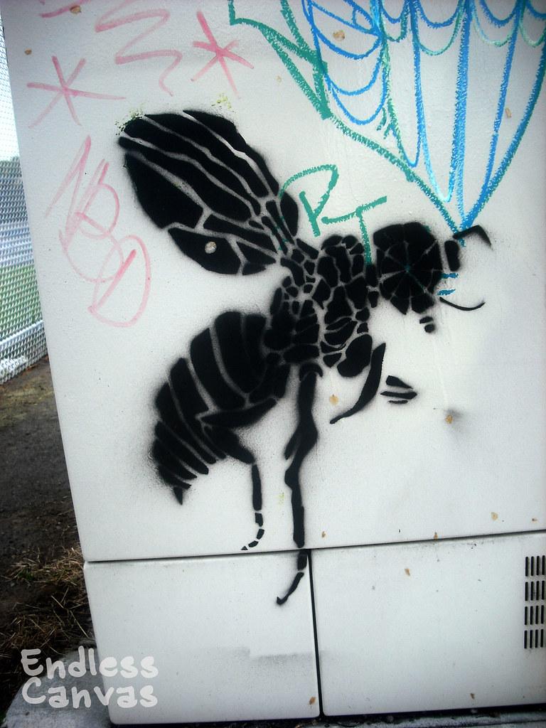 """""""mosqito"""" stencil - Oakland, Ca"""