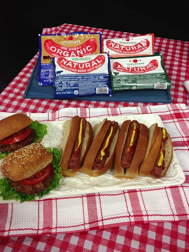 Applegate hot dogs and burgers. Organic and natural