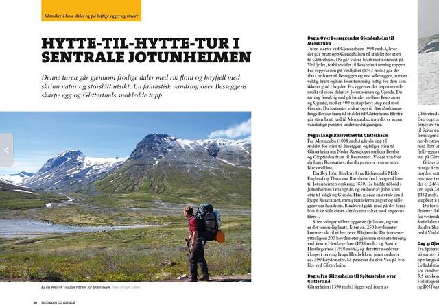 Foto 1 boek wandeltochten Jotunheimen