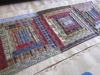Recycled shirts tablerunner