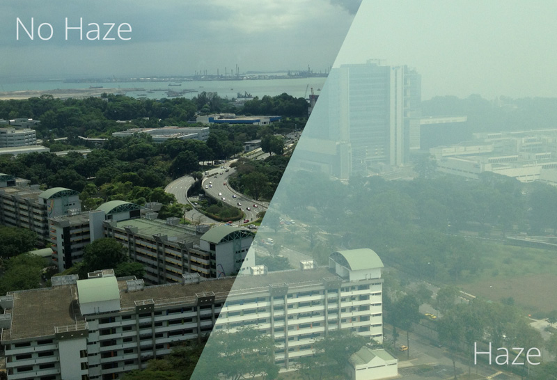 haze vs no haze