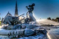 St. Alban Church & Gefion Fountain, Copenhagen, Denmark