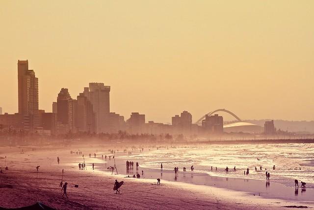 durban beach and skyline