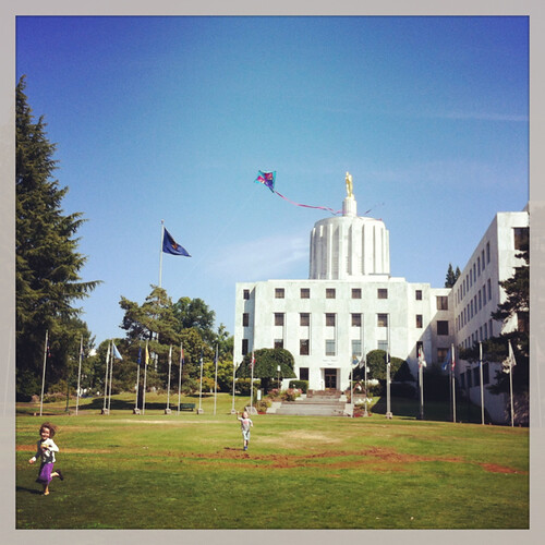 flying a kite in Salem!