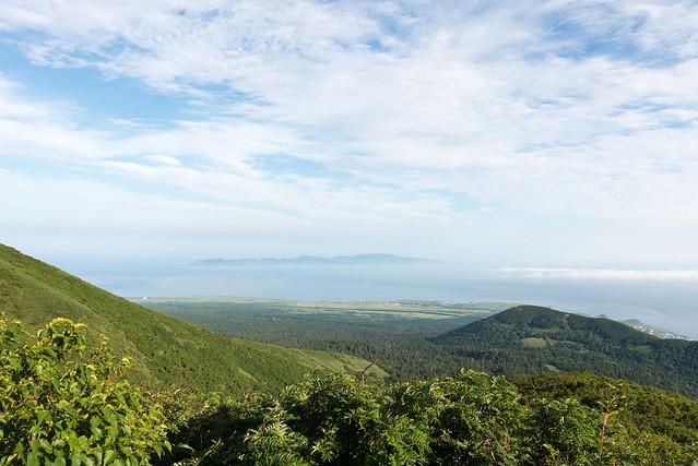 利尻山から見た礼文島