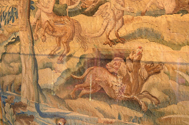 Chateau de Chenonceau decaying tapestry
