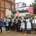 Colourful campaigners outside Lewisham Hospital's A&E Department