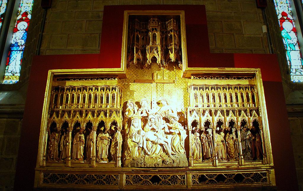 5. Retablo de Las Navas de Tolosa, del siglo XV. Catedral de Pamplona. Autor, Tetegil