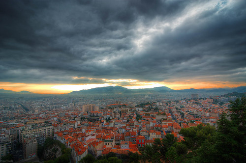 city morning storm france clouds sunrise landscape marseille cityscape view dramatic provence nuages paysage vue hdr ville matin 3xp leverdusoleil
