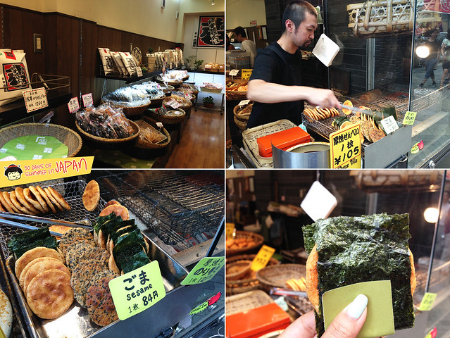 Asakusa - Nakamise Traditional Shopping Street - fresh soy rice cakes