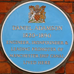 Photo of Daniel Adamson blue plaque