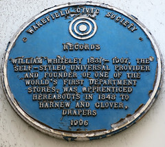 Photo of William Whiteley blue plaque