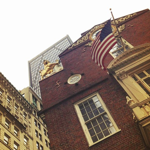 Lion and Flag on the Old State House